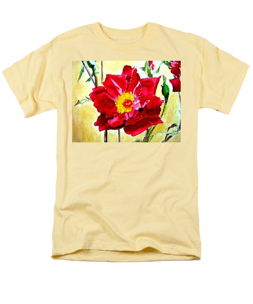Men's T-Shirt  (Regular Fit) featuring the painting Love Rose by Ana Maria Edulescu