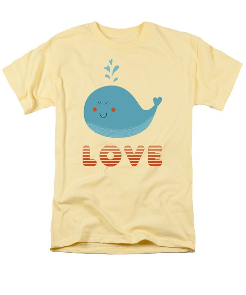 Love Whale Cute Animals Men's T-Shirt  (Regular Fit) by Edward Fielding