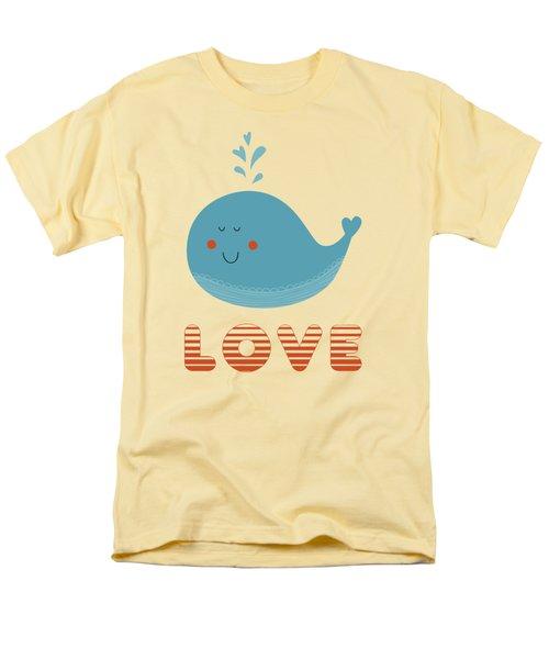 Love Whale Cute Animals Men's T-Shirt  (Regular Fit) by Edward Fielding