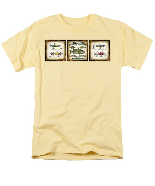 Men's T-Shirt  (Regular Fit) featuring the painting Lure Three Piece Panels by JQ Licensing Jon Q Wright