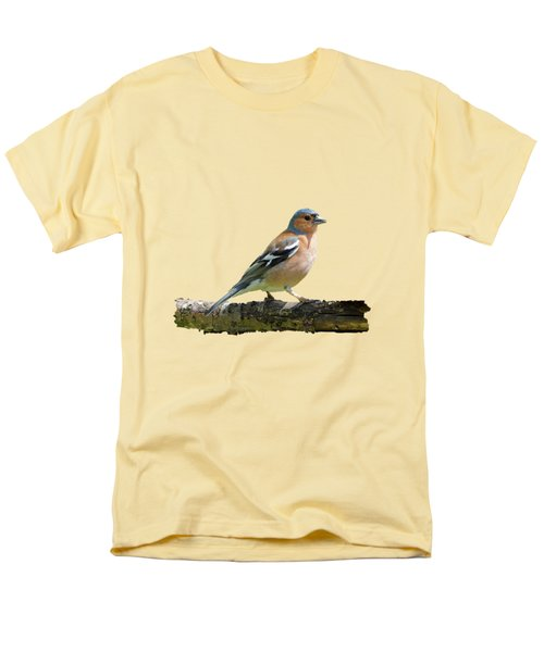 Male Chaffinch, Transparent Background Men's T-Shirt  (Regular Fit) by Paul Gulliver