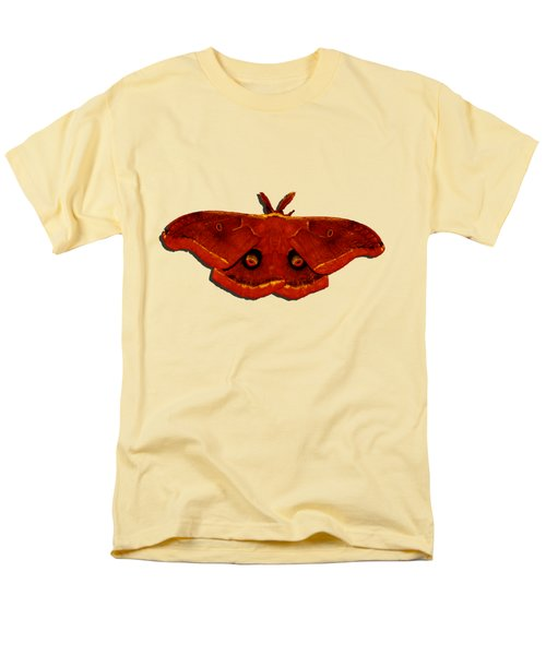 Men's T-Shirt  (Regular Fit) featuring the photograph Male Moth Red .png by Al Powell Photography USA