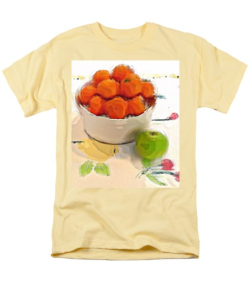 Mandarin With Apple Men's T-Shirt  (Regular Fit) by Alexis Rotella
