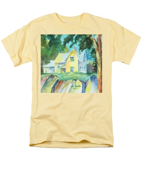 Marblehead Cottage Men's T-Shirt  (Regular Fit) by Lee Beuther