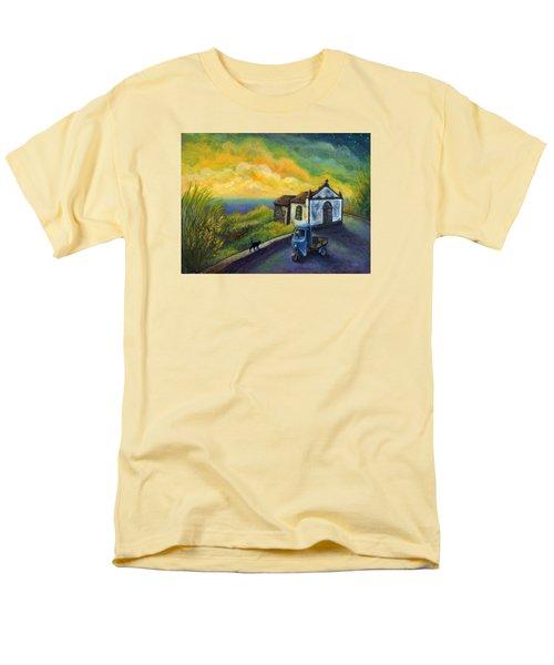 Memories Neath A Yellow Sky Men's T-Shirt  (Regular Fit) by Retta Stephenson