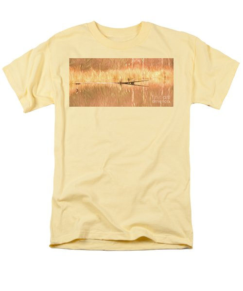 Men's T-Shirt  (Regular Fit) featuring the photograph Mirrored Reflection by Laurinda Bowling