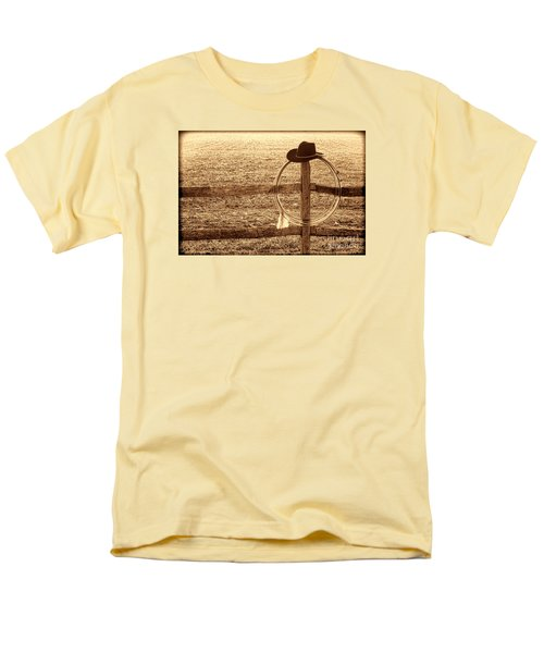 Misty Morning At The Ranch Men's T-Shirt  (Regular Fit) by American West Legend By Olivier Le Queinec