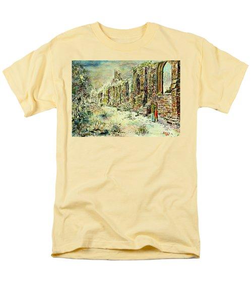 Moonlit Footsteps On Holy Ground Men's T-Shirt  (Regular Fit) by Alfred Motzer