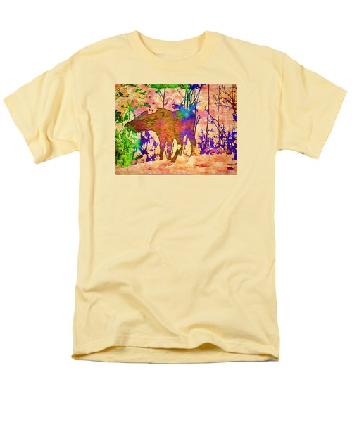 Moose Abstract Men's T-Shirt  (Regular Fit) by Jan Amiss Photography
