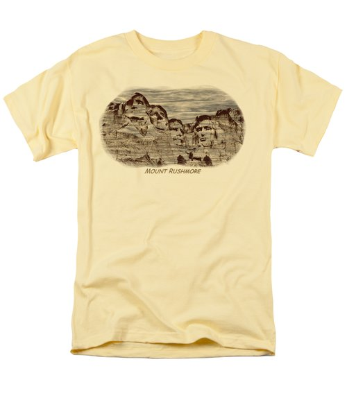 Mount Rushmore Woodburning 2 Men's T-Shirt  (Regular Fit) by John M Bailey