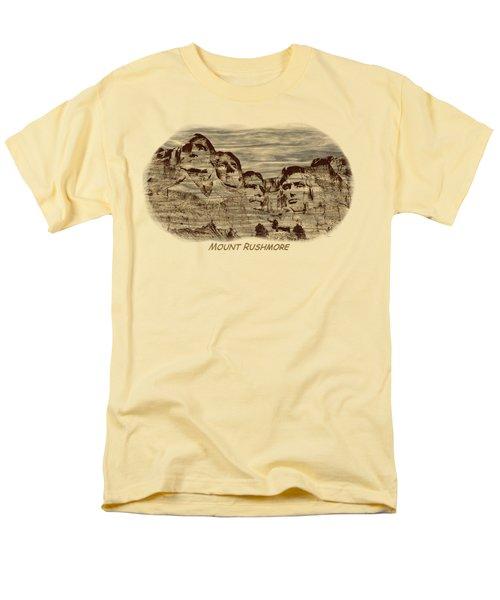 Mount Rushmore Woodburning 2 Men's T-Shirt  (Regular Fit)