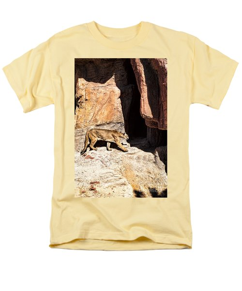 Men's T-Shirt  (Regular Fit) featuring the photograph Mountain Lion by Lawrence Burry