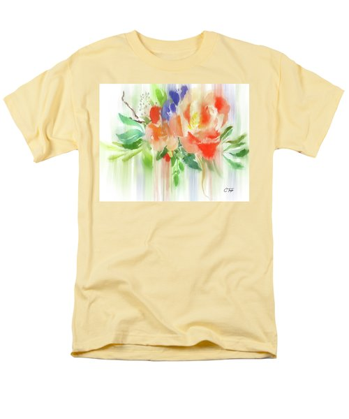 Men's T-Shirt  (Regular Fit) featuring the painting My Roses Gently Weep by Colleen Taylor
