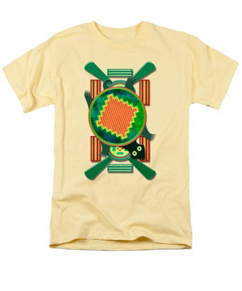 Native American 3d Turtle Motif Men's T-Shirt  (Regular Fit) by Sharon and Renee Lozen