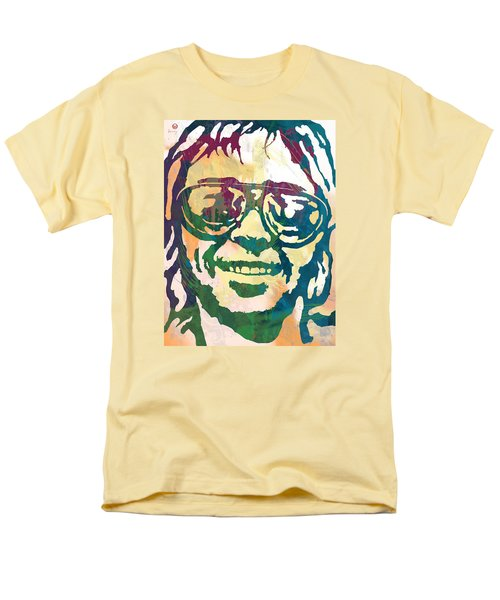Neil Young Pop Stylised Art Poster Men's T-Shirt  (Regular Fit) by Kim Wang
