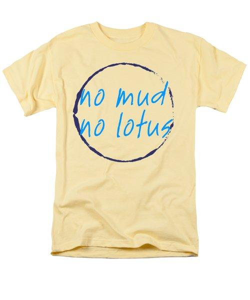 Men's T-Shirt  (Regular Fit) featuring the digital art No Mud No Lotus Green by Julie Niemela