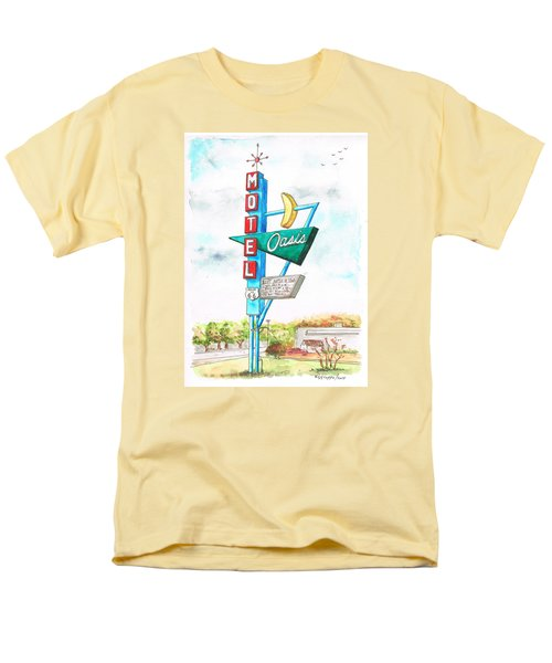 Oasis Motel In Route 66, Tulsa, Texas Men's T-Shirt  (Regular Fit) by Carlos G Groppa
