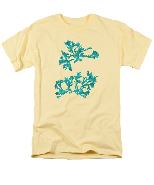 Men's T-Shirt  (Regular Fit) featuring the mixed media Ocean Seaweed Plant Art Phyllophora Rubens by Christina Rollo