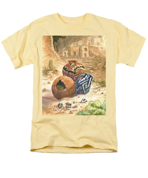 Men's T-Shirt  (Regular Fit) featuring the painting Old Indian Pottery by Marilyn Smith