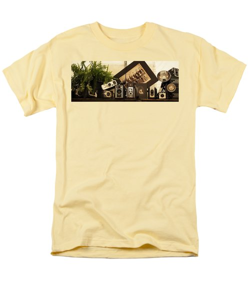 Men's T-Shirt  (Regular Fit) featuring the photograph Old Time Photography by Cathy Donohoue