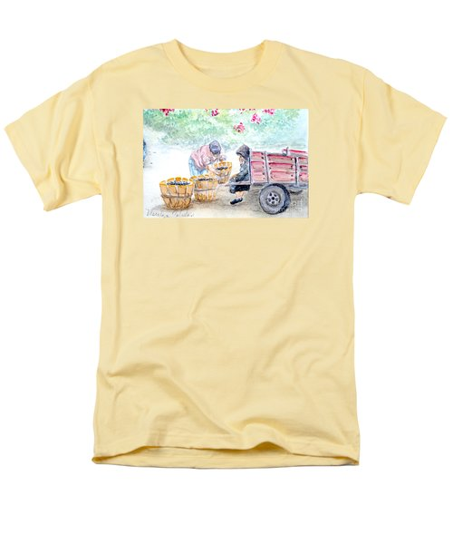 Men's T-Shirt  (Regular Fit) featuring the painting Olive Pickers by Marilyn Zalatan