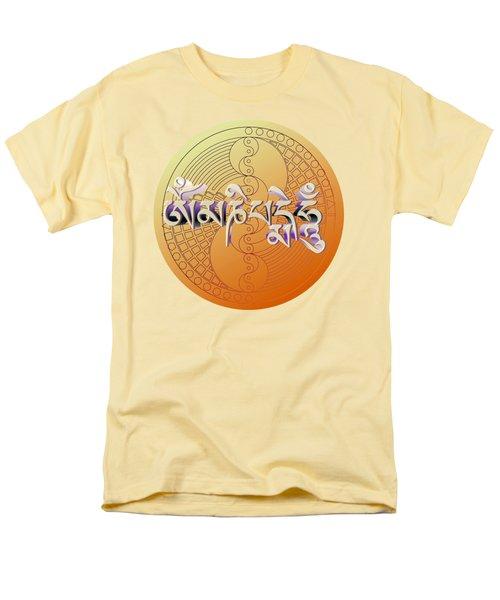 Men's T-Shirt  (Regular Fit) featuring the digital art Om Mani Padme Hum by Robert G Kernodle