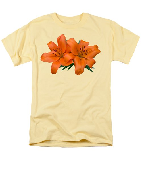 Men's T-Shirt  (Regular Fit) featuring the photograph Orange Lily by Jane McIlroy