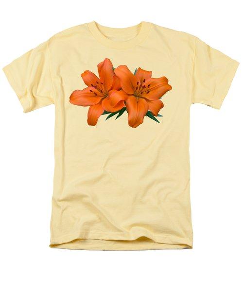 Orange Lily Men's T-Shirt  (Regular Fit) by Jane McIlroy