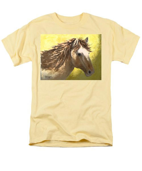 Men's T-Shirt  (Regular Fit) featuring the painting Out Of The Sun by Carol Grimes