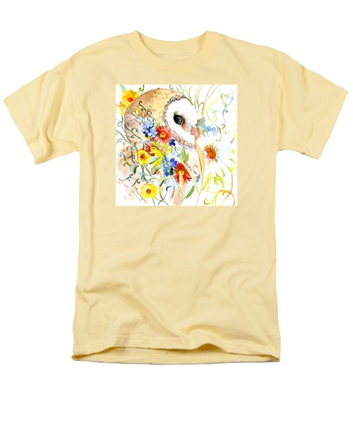 Owl And Flowers Men's T-Shirt  (Regular Fit) by Suren Nersisyan