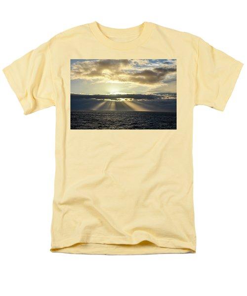 Men's T-Shirt  (Regular Fit) featuring the photograph Pacific Sunset by Allen Carroll