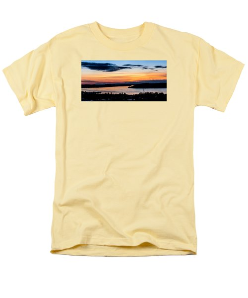 Panoramic Sunset Over Hail Passage  Men's T-Shirt  (Regular Fit) by Rob Green