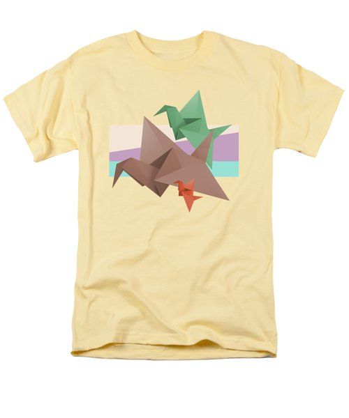 Paper Cranes Men's T-Shirt  (Regular Fit) by Absentis Designs