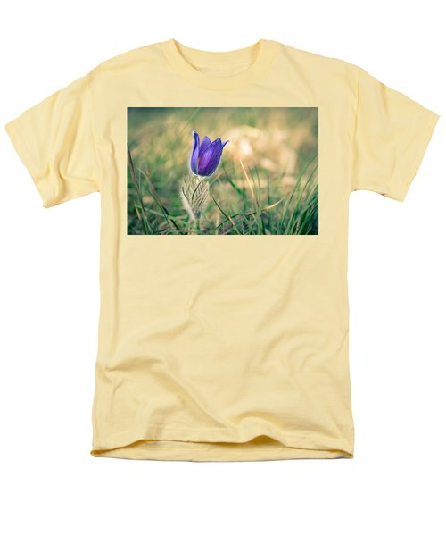 Pasque Flower Men's T-Shirt  (Regular Fit) by Andreas Levi