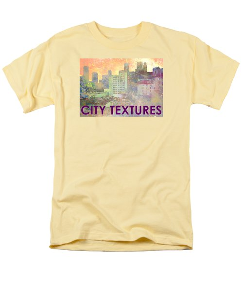 Pastel City Textures Men's T-Shirt  (Regular Fit) by John Fish