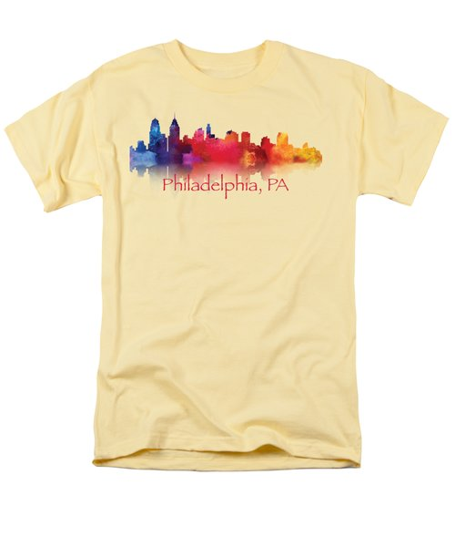 philadelphia PA Skyline TShirts and Apparal Men's T-Shirt  (Regular Fit) by Loretta Luglio