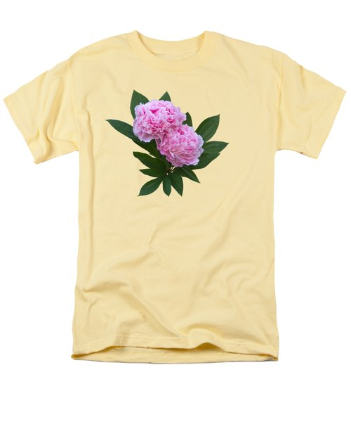 Men's T-Shirt  (Regular Fit) featuring the photograph Pink Peonies by Jane McIlroy
