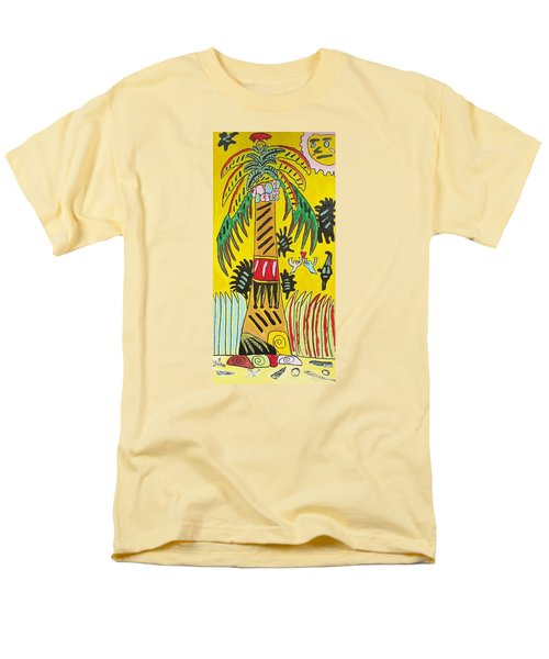 Men's T-Shirt  (Regular Fit) featuring the painting Portal To Adventure by Artists With Autism Inc