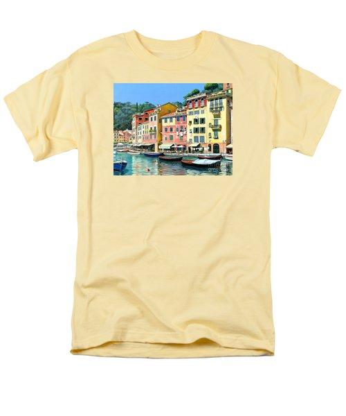 Men's T-Shirt  (Regular Fit) featuring the painting Portofino Sunshine 30 X 40 by Michael Swanson