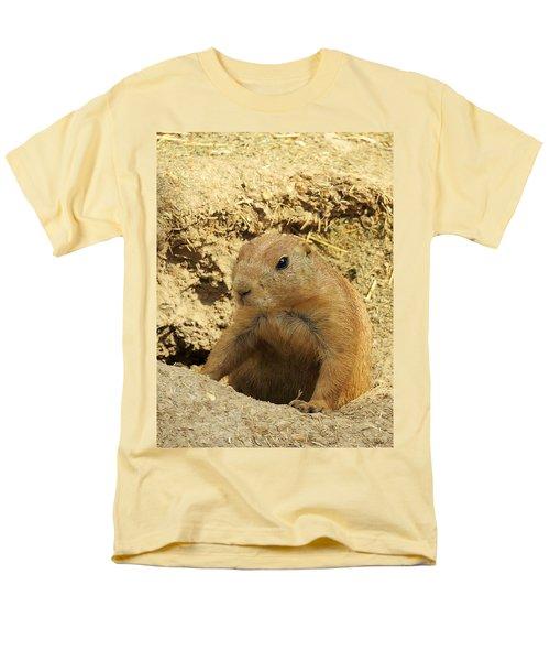 Prairie Dog Peek Men's T-Shirt  (Regular Fit) by Robin Regan