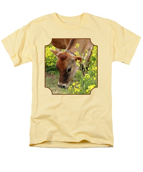 Pretty Jersey Cow - Vertical Men's T-Shirt  (Regular Fit) by Gill Billington