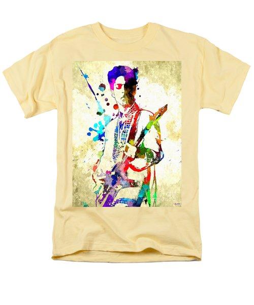 Prince In Concert Men's T-Shirt  (Regular Fit) by Daniel Janda