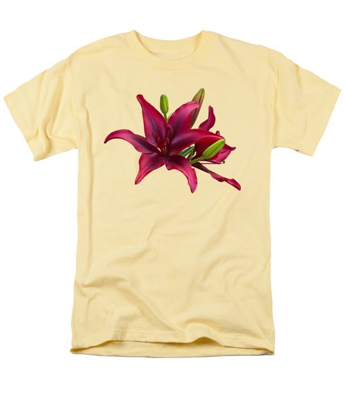Red Lilies Men's T-Shirt  (Regular Fit) by Jane McIlroy