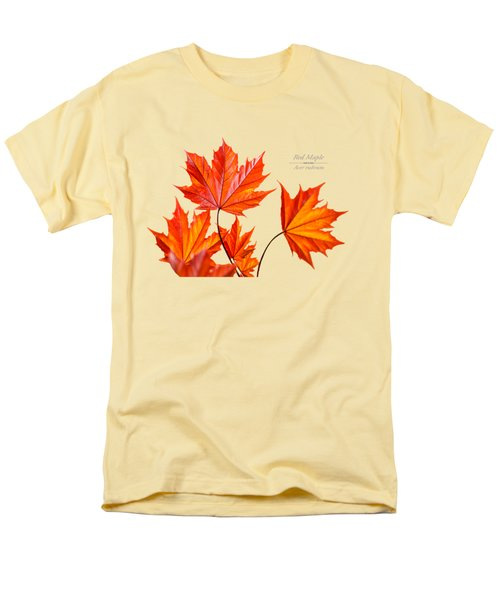 Red Maple Men's T-Shirt  (Regular Fit) by Christina Rollo