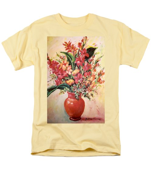 Red Vase Men's T-Shirt  (Regular Fit) by Alexandra Maria Ethlyn Cheshire