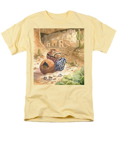Men's T-Shirt  (Regular Fit) featuring the painting Remnants Of The Ancient Ones by Marilyn Smith