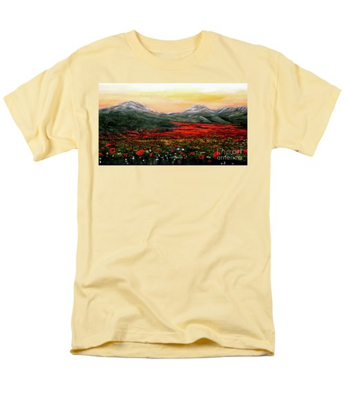 River Of Poppies Men's T-Shirt  (Regular Fit) by Judy Kirouac