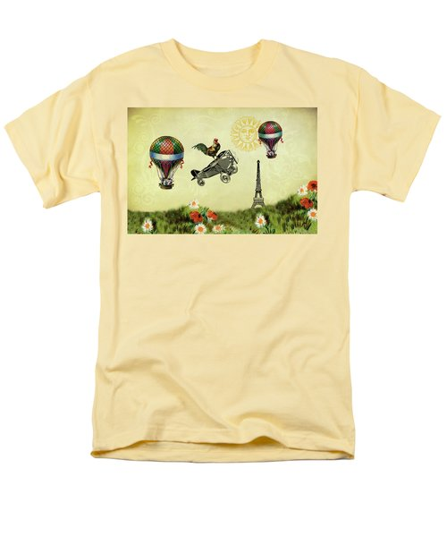 Rooster Flying High Men's T-Shirt  (Regular Fit) by Peggy Collins