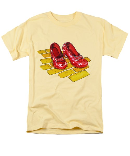 Ruby Slippers Wizard Of Oz Men's T-Shirt  (Regular Fit) by Irina Sztukowski