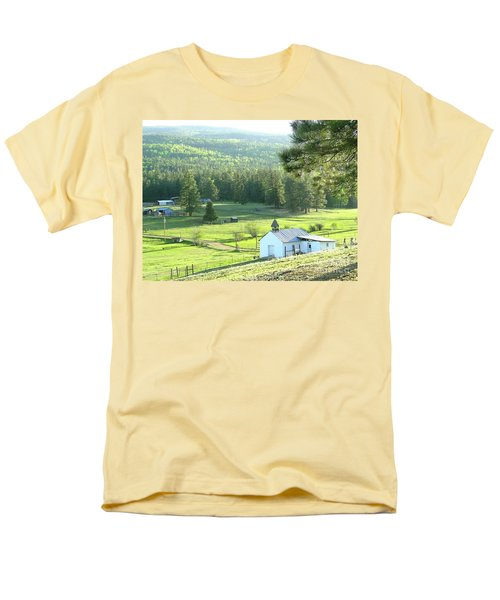 Rural Church In The Valley Men's T-Shirt  (Regular Fit) by Cindy Croal